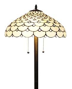 Amora Lighting AM012FL18 Tiffany Style Jeweled Floor Lamp, 18-Inch ...