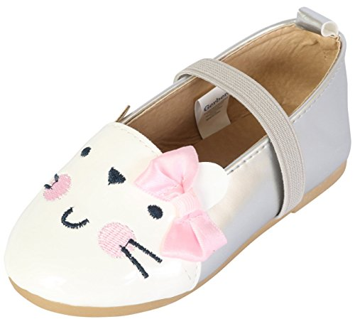 Gerber Baby Girls Animal Face Walking Shoes, Bunny, 3 M US -