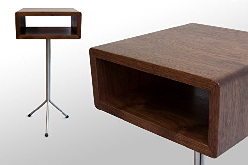 The Toole Nightstand/End Table: Walnut