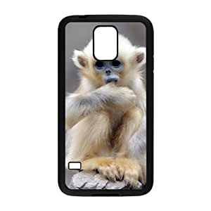 DIY Cover Case with Hard Shell Protection for SamSung Galaxy S5 I9600 case with Cute monkey lxa#989422