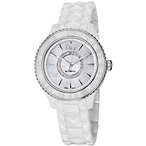 Dior VIII Automatic Diamond Mother of Pearl Dial White Ceramic Ladies Watch CD1245E3C003