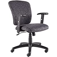 SedLivo Ergonomic Swivel Computer Office Desk Task Chair with Adjustable Arms, Black