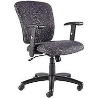 SedLivo Ergonomic Swivel Computer Office Desk Task Chair with Adjustable Arms, Black