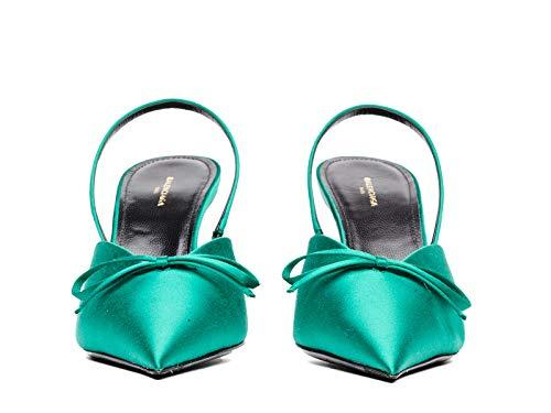 Donna Con Verde Balenciaga Tessuto 516751w0wm03706 Tacco Scarpe O76xxRwtq8