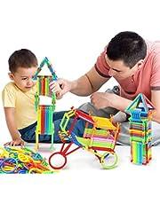 Educational Plastic Building Sticks Blocks - 350 Pieces - Magic Toys