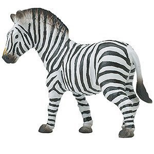ri Wildlife – Zebra – Realistic Hand Painted Toy Figurine Model – Quality Construction from Safe and BPA Free Materials – For Ages 3 and Up (Safari Zebra)