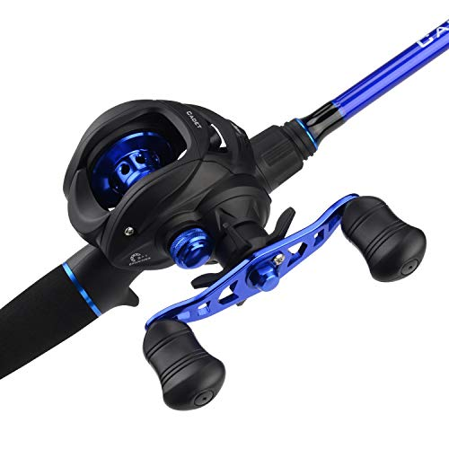 KastKing Cadet Casting Combos, IM6 Graphite 2pc Blanks, O-Ring Guides, Graphite Reel Seats, EVA Handles Fighting Butt, Split Rear Handle Design, 5 1 BB Casting Reel, Magnetic Casting Control
