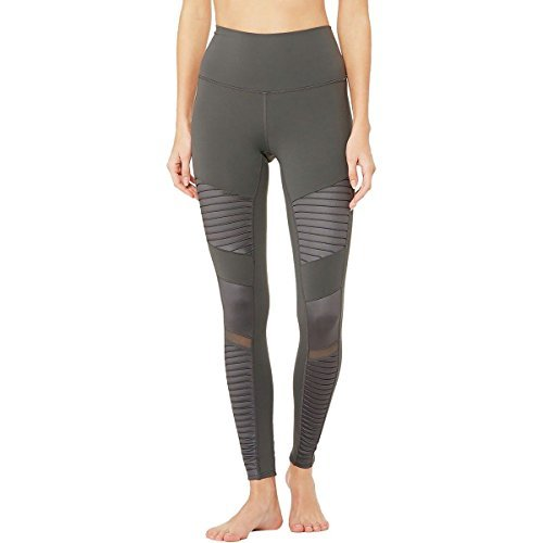 Alo Yoga High-Waist Moto Legging - Women's Anthracite/Anthracite Glossy, L