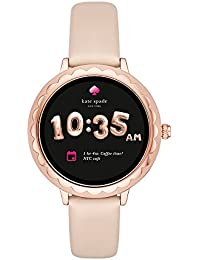 Scallop Touchscreen Smartwatch, Rose Gold-tone Stainless Steel, Vachetta Leather Band, 42mm, KST2003