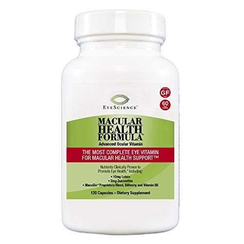 EyeScience Macular Health Formula Advanced Ocular Vitamin - Containing Lutein, Zeaxanthin, Billberry, and Vitamins C, D, E, and B6 (60 Day Supply)