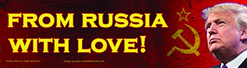 From Russia With Love Anti-Trump Magnetic Bumper Sticker