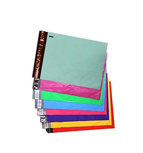 "10"" x 13"" All Colors -Flat Poly Mailers, Self Sealing Flat Envelope Mailers, (8 Color Combo) (100 Pack) for sale"