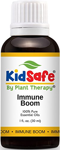 Plant Therapy KidSafe Immune Boom Synergy Essential Oil Blend. 100% Pure, Undiluted, Therapeutic Grade. Blend of: Lemon, Palmarosa, Dill, Petitgrain, Copaiba and Frankincense. 30 mL (1 Ounce).