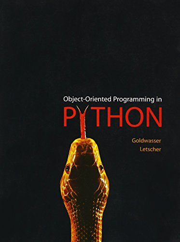 Object-Oriented Programming in Python by Prentice Hall