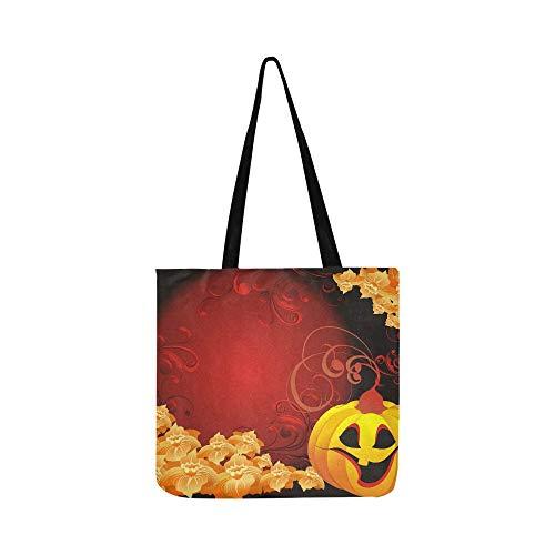En Hommes À Jackolantern Tote Sac Sacs Vecteur Shopping Femmes Pour Main Halloween Toile Bandoulière Et vgwq6tW6