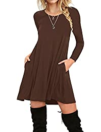 Women's Ruffle Sleeveless Casual Loose Plain Beach Maxi Dresses with Pockets