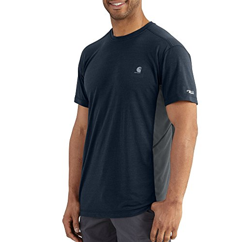 Carhartt Men's 101545 Force Extremes&Trade; Short Sleeve T-Shirt - X-Large Regular - Navy/Bluestone -