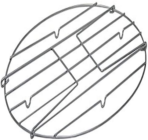 (Medium) - Granite Ware Flat Oval Roaster Rack with Handles,