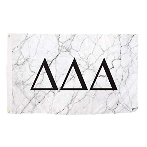 Delta Delta Delta Tri Delta Light Marble Sorority Letter Flag Banner 3 x 5 Sign Decor