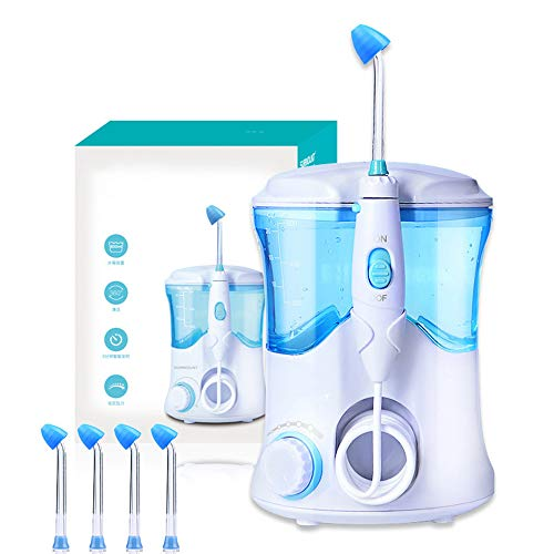 WUHX Electric Nasal wash Device - with 4 nozzles 600mL Large Volume Nasal irrigator 30-125PSI Water Pressure 3 Minutes Intelligent Timing - for Adult and Children