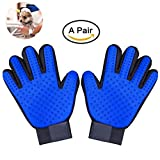 Antistatic Pet Hair Remover Glove, Massage & Bathing Comb, Pet Grooming Brush Glove Perfect for Dog & Cat and All Furry Friends