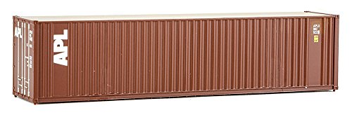 (Walthers SceneMaster 40' Hi-Cube Corrugated Container w/Flat Roof APL - Assembled Train Collectable Train)