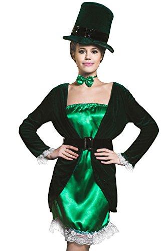 Female Cosplay Costumes Pics (Adult Women Leprechaun Costume Irish Fairy Shee Cosplay Role Play Sprite Dress Up (Small/Medium, Green, Emerald Green, Black, White))