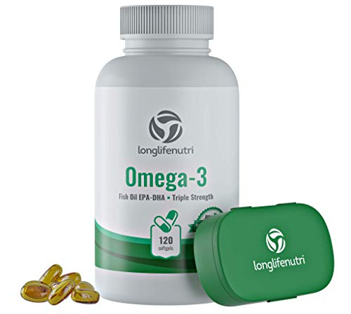 (Omega 3 Fish Oil Pills 120 Softgels Capsule | Essential Fatty Acids 1000mg Supplement | High DHA EPA | Immune Support Formula | Natural Nordic Algae Ultra Omega3 Women & Men)