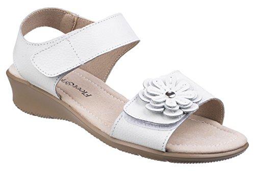 Fleet & Foster Sapphire Womens Leather Wedge Sandals White - White - UK Size 6 2e9JDFM