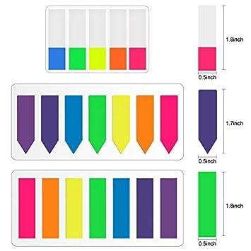 Lvcky Rotuladores de páginas de neón, Etiquetas de índice, dispensadores de Bandas, Etiquetas de Notas Adhesivas, 8 Juegos: Amazon.es: Jardín