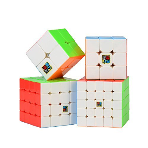 Roxenda Speed Cube Bundle Moyu 2x2 3x3 4x4 5x5 Stickerless Bright Magic...