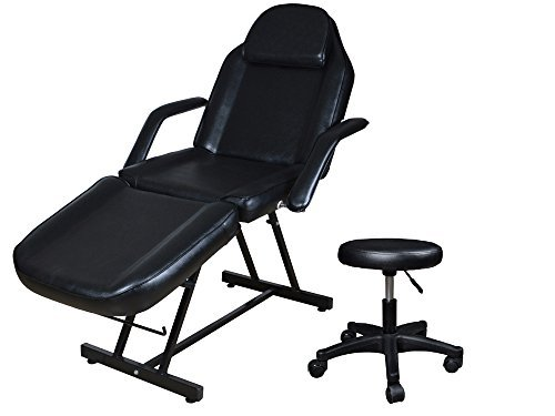 TMS 73' Adjustable Tattoo Massage Bed Facial Beauty Barber Chair w/ Hydraulic Stool
