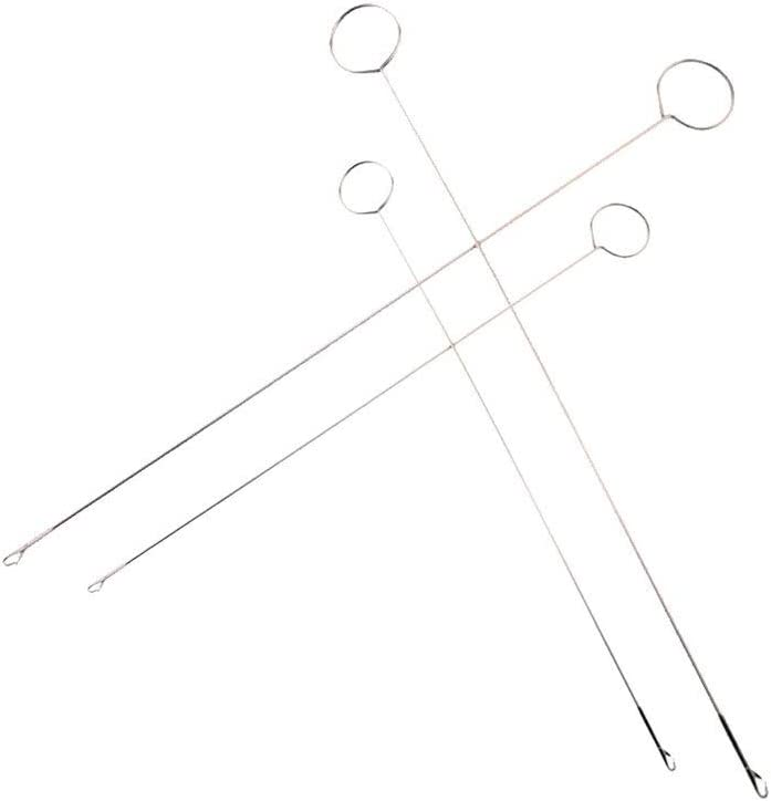 Exceart 4pcs Drawstring Threader Long Threader Threading Tool Drawstring Replacement Tools for Embroidery Sewing