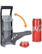 16oz/12oz Can Crusher, 2 in 1 Wall Mounted Can Crusher with Bottle Opener
