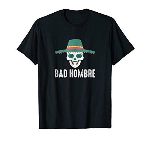 Mens Bad Hombre T-shirt XL Black