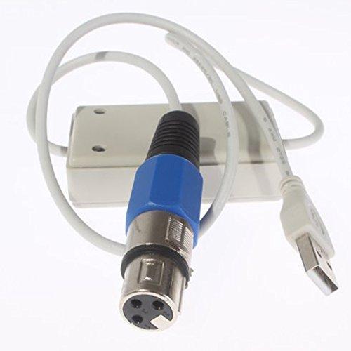 Yosoo® DMX512 USB to DMX Interface Adapter Computer Software Satge Lighting Controller