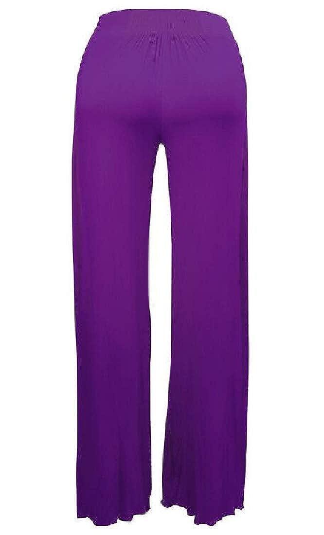 SELX Women Split High Waist Yoga Casual Wide Leg Cotton Club Palazzo Pants