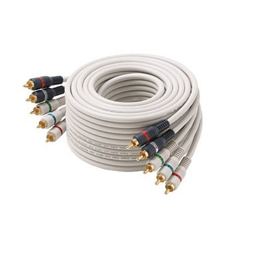 12' Python Component Video and Audio Cable 5 RCA Gold