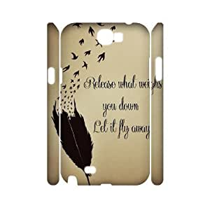 Feather Quote Fly Personalized 3D Cover Case for Samsung Galaxy Note 2 N7100,customized phone case ygtg617090