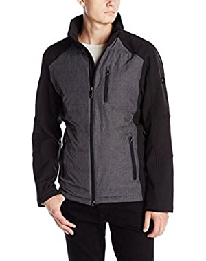 Calvin Klein Men's Hybrid Puffer Softshell Winter Coat Charcoal