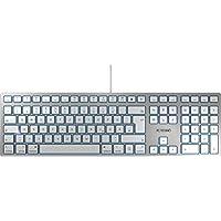 CHERRY KC 6000 Slim for Mac Tastatur, Silber/Weiß