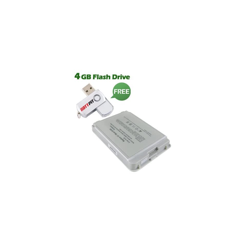 Battpit™ Laptop / Notebook Battery Replacement for Apple iBook G4 14 M9628J/A (4400mAh / 63Wh) with FREE 4GB Battpit™ USB Flash Drive