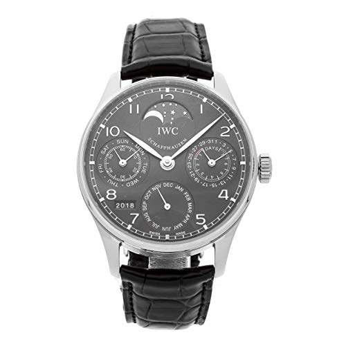- IWC Portuguese Mechanical (Automatic) Grey/Charcoal Dial Mens Watch IW5023-07 (Certified Pre-Owned)