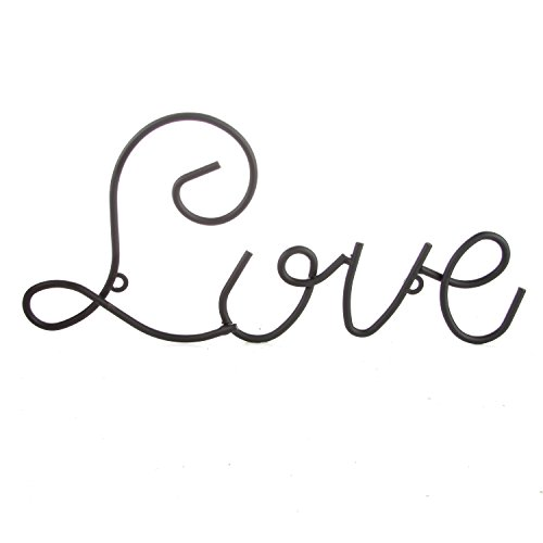 Love Wall Mount Metal Wall Word Sculpture, Wall Decor by ARAD