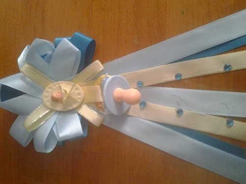 (Baby Shower Cold Porcelain Pacifier Corsage You Pick Colors Blue or)
