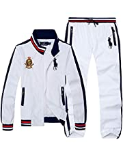 P&R&L Polo Ralph Lauren Men's Fashion Embroidered Pattern Cotton Zippered Sports & Leisure Suit