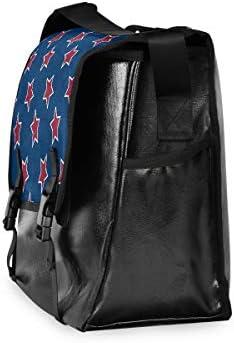 メッセンジャーバッグ メンズ アメリカ風 スター 赤 ブルー 斜めがけ 肩掛け カバン 大きめ キャンバス アウトドア 大容量 軽い おしゃれ