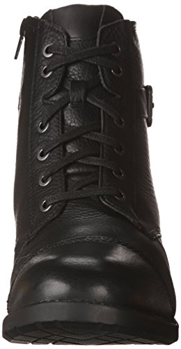 CLARKS Women's Swansea Ledge Black Leather