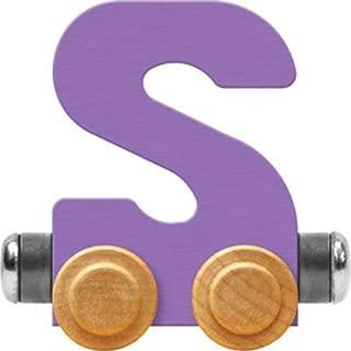 product image for Maple Landmark NameTrain Pastel Letter Car S - Made in USA (Lavender)