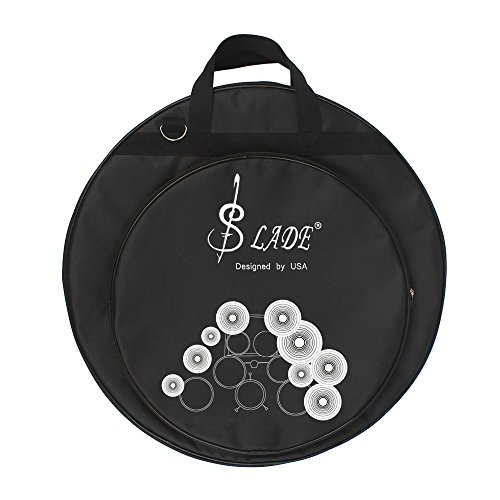ammoon 21-Inch Three Pockets Cymbal Bag Packback with Removable Divider Shoulder Strap